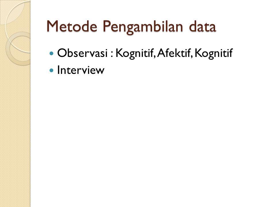Metode Pengambilan data