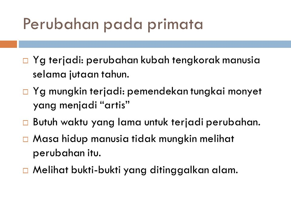 Perubahan pada primata