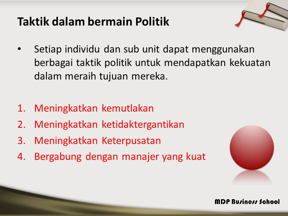 Taktik dalam bermain Politik
