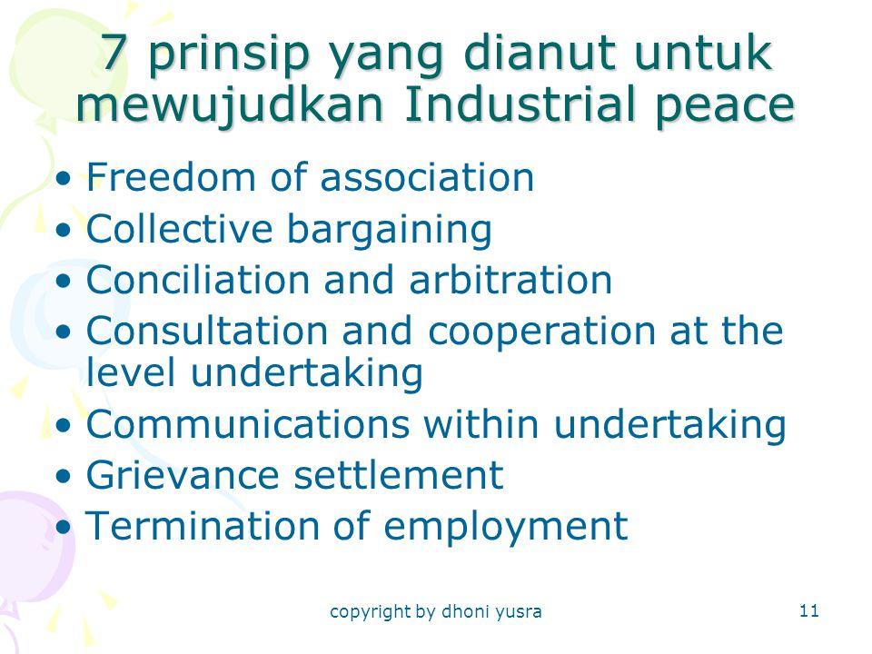 7 prinsip yang dianut untuk mewujudkan Industrial peace