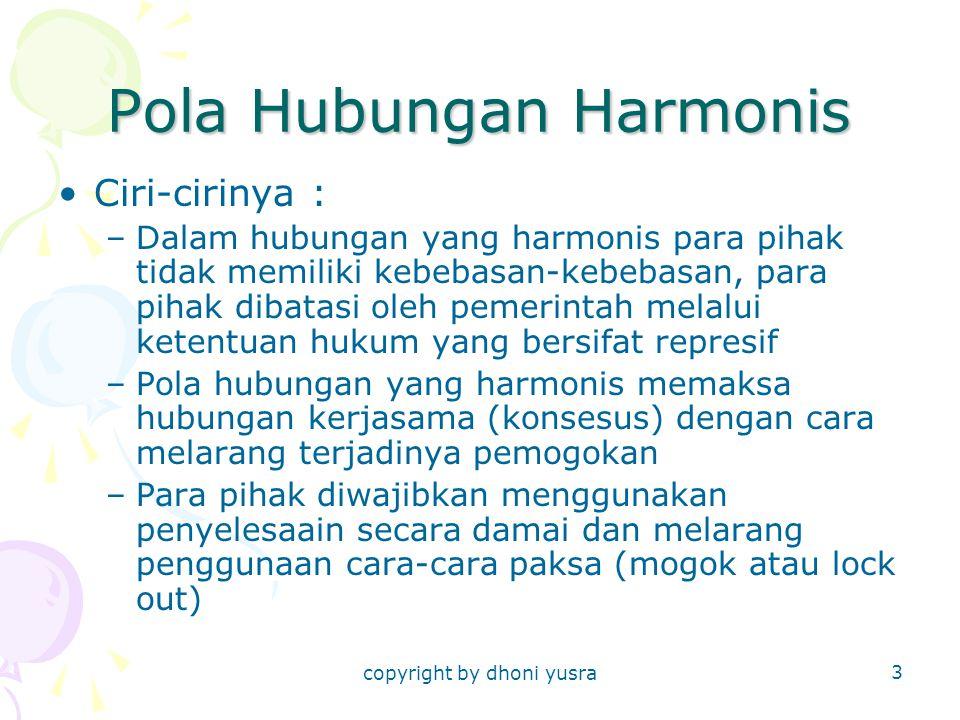 Pola Hubungan Harmonis