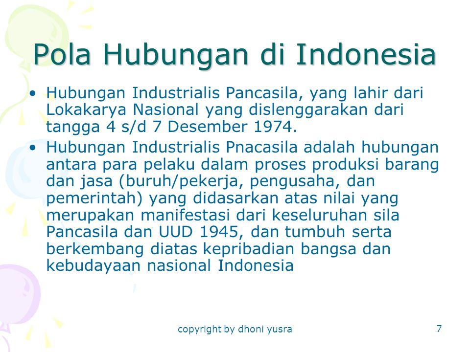 Pola Hubungan di Indonesia