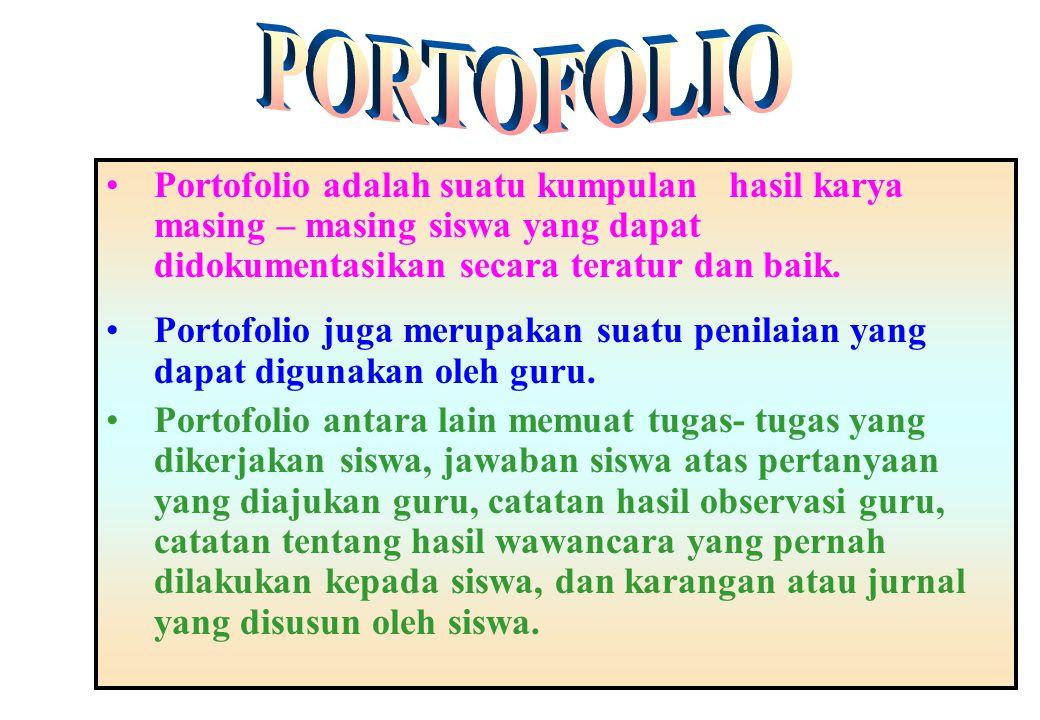 PORTOFOLIO PORTOFOLIO