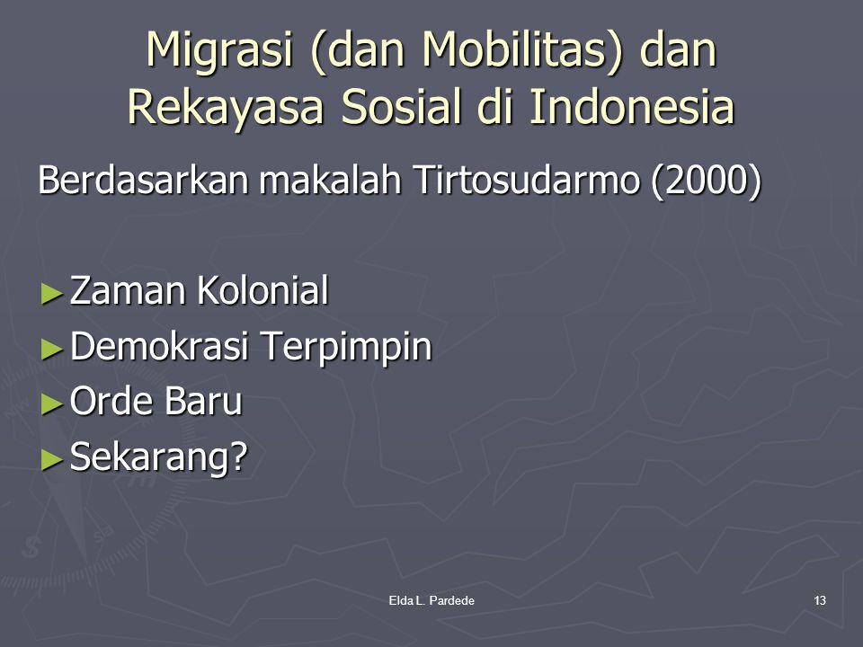Migrasi (dan Mobilitas) dan Rekayasa Sosial di Indonesia