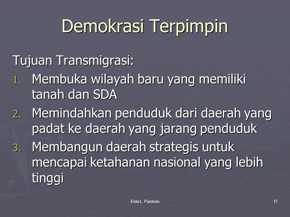 Demokrasi Terpimpin Tujuan Transmigrasi: