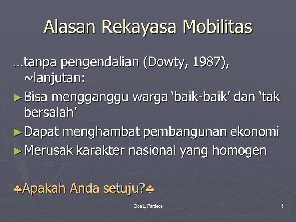 Alasan Rekayasa Mobilitas