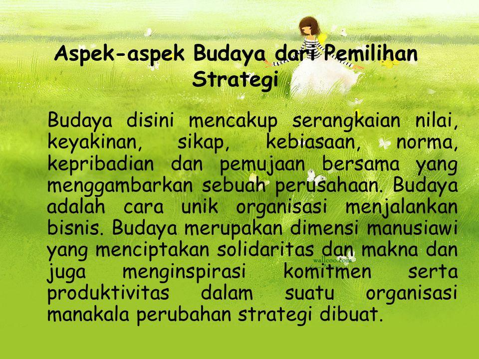 Aspek-aspek Budaya dari Pemilihan Strategi