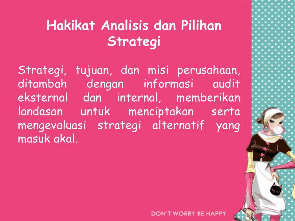 Hakikat Analisis dan Pilihan Strategi
