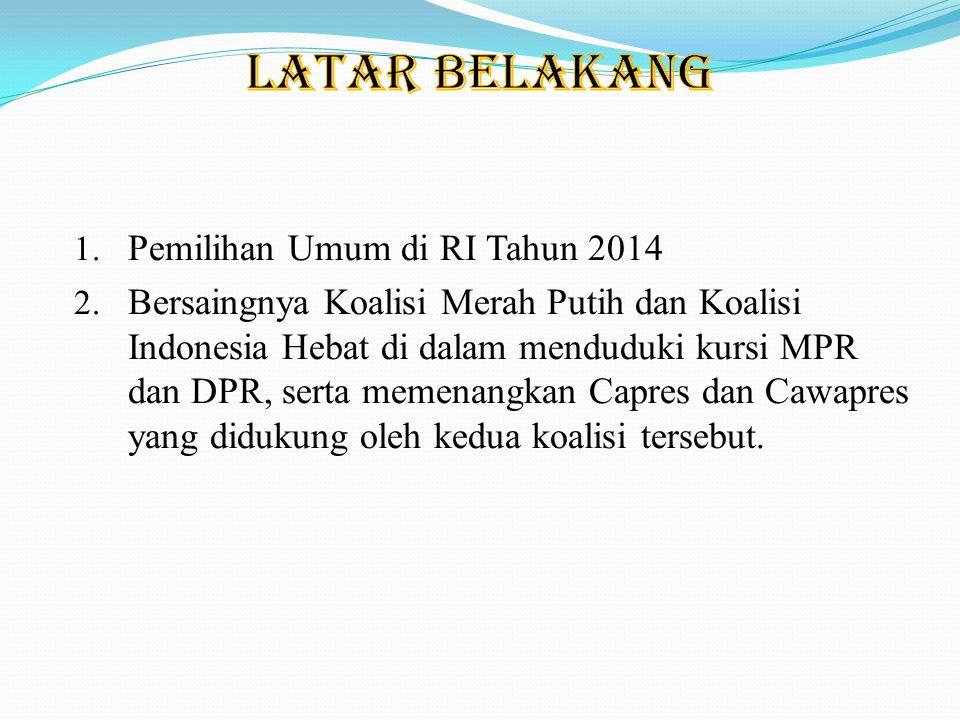 LATAR BELAKANG Pemilihan Umum di RI Tahun 2014