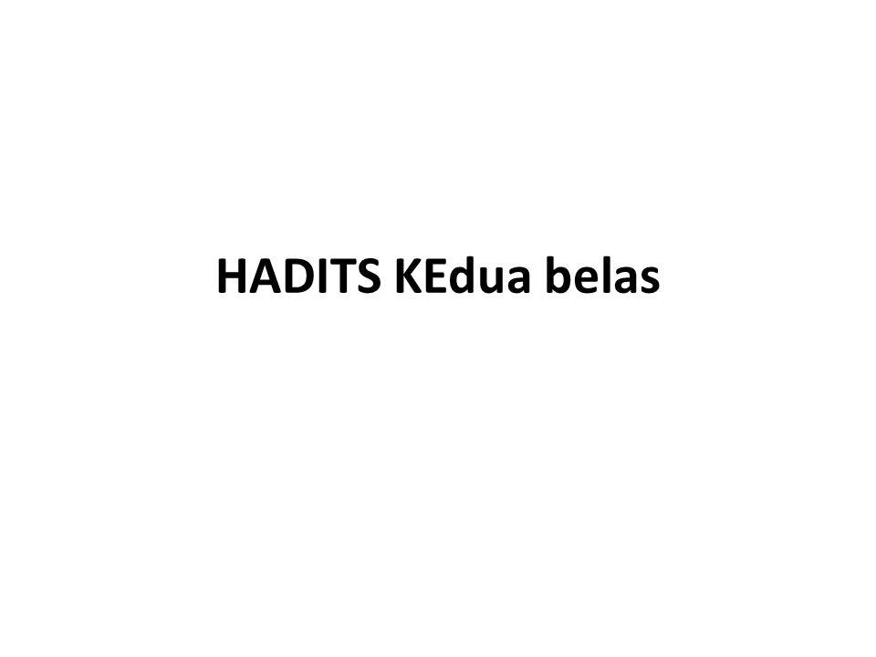 HADITS KEdua belas