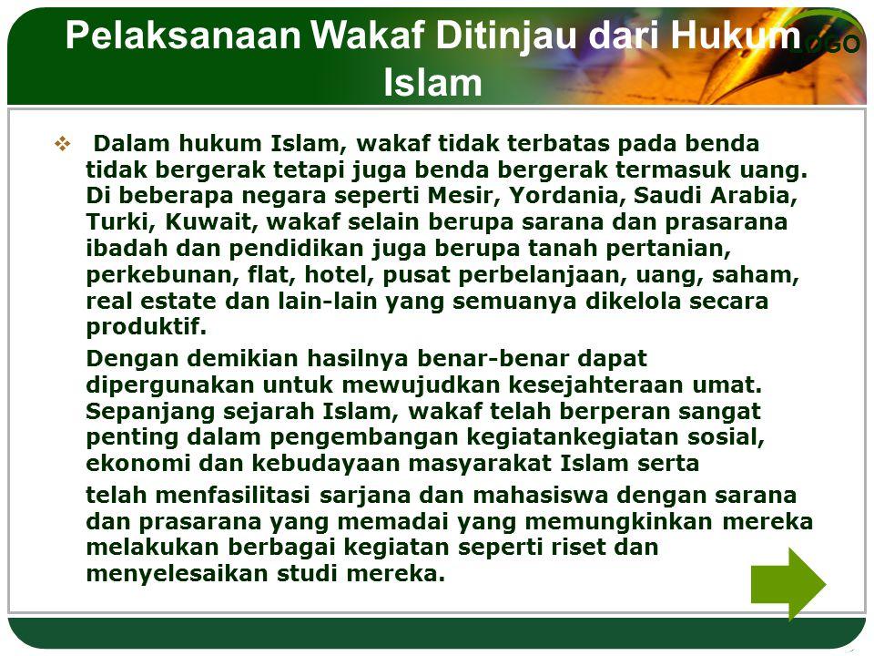 Pelaksanaan Wakaf Ditinjau dari Hukum Islam