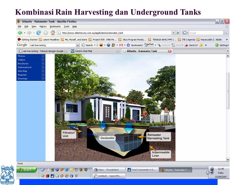 Kombinasi Rain Harvesting dan Underground Tanks