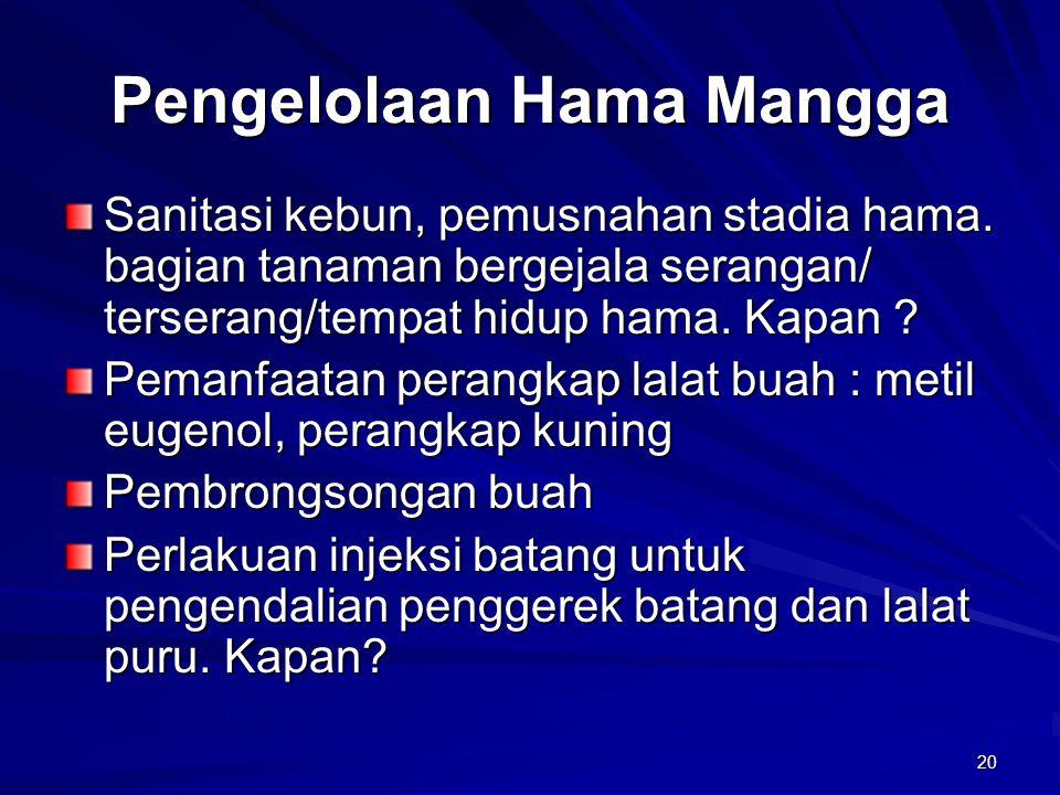 Pengelolaan Hama Mangga