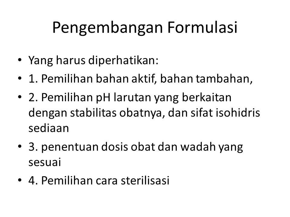 Pengembangan Formulasi