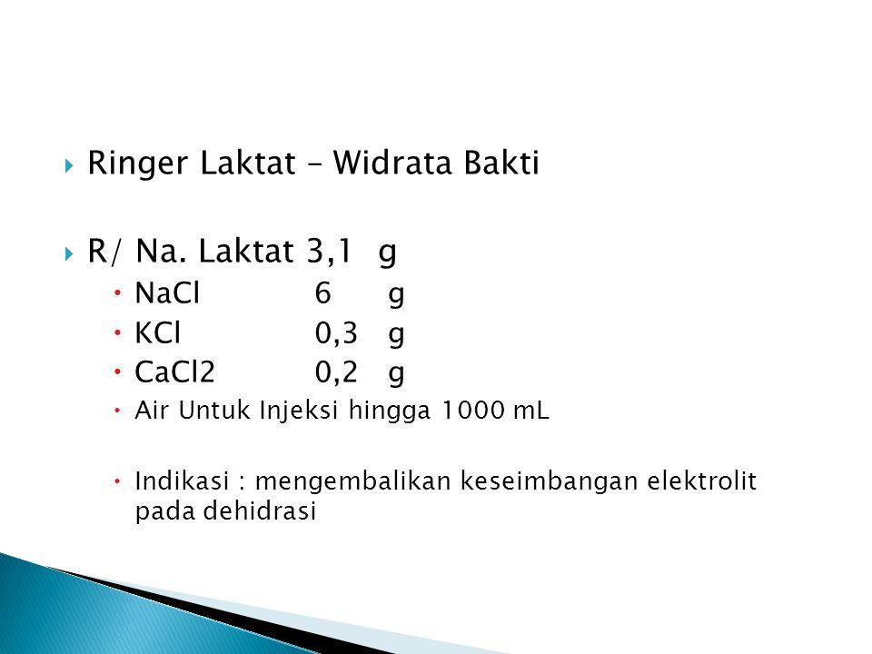 Ringer Laktat – Widrata Bakti R/ Na. Laktat 3,1 g