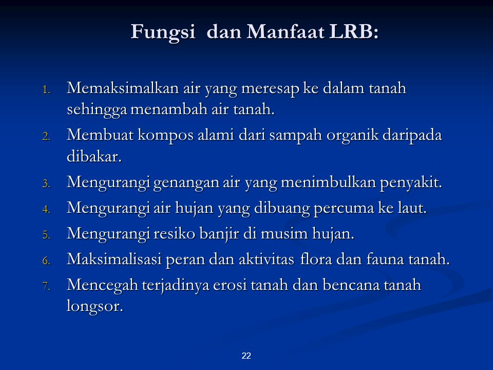 Fungsi dan Manfaat LRB: