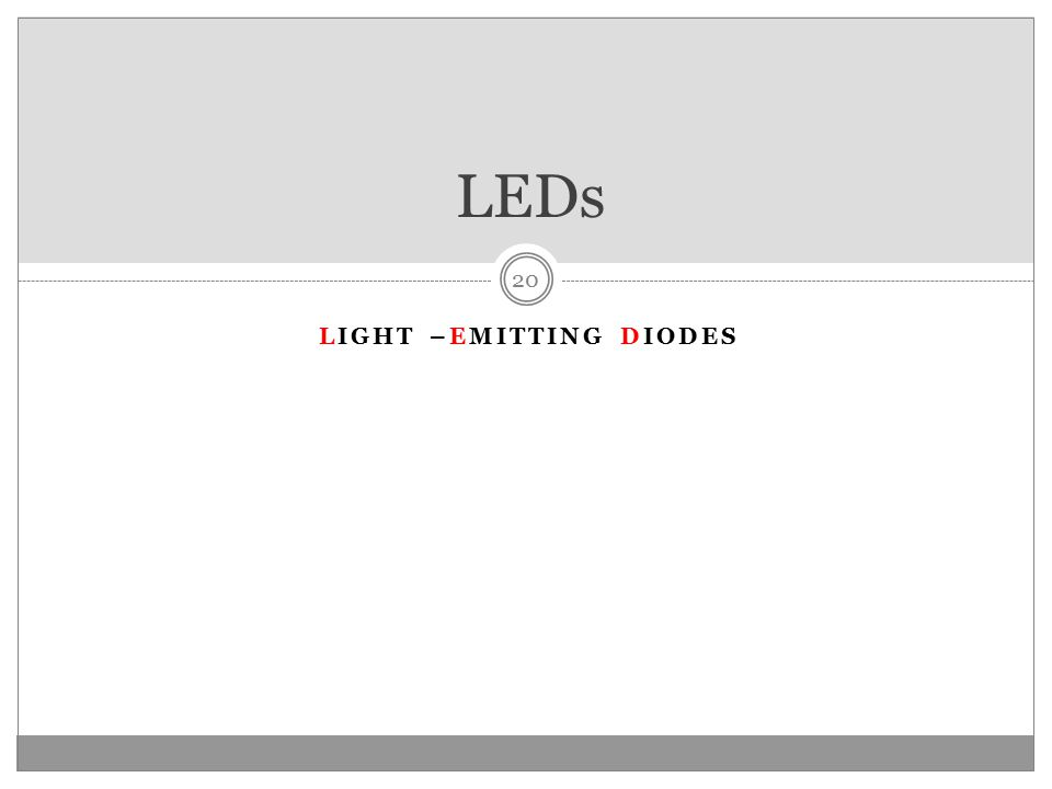 Light –emitting diodes