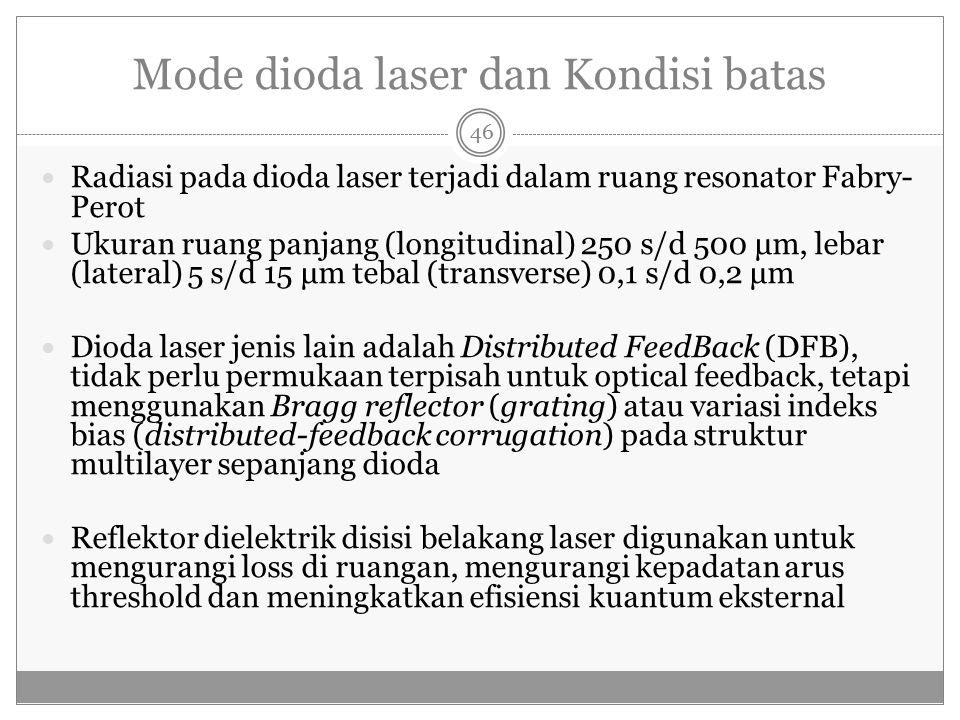 Mode dioda laser dan Kondisi batas