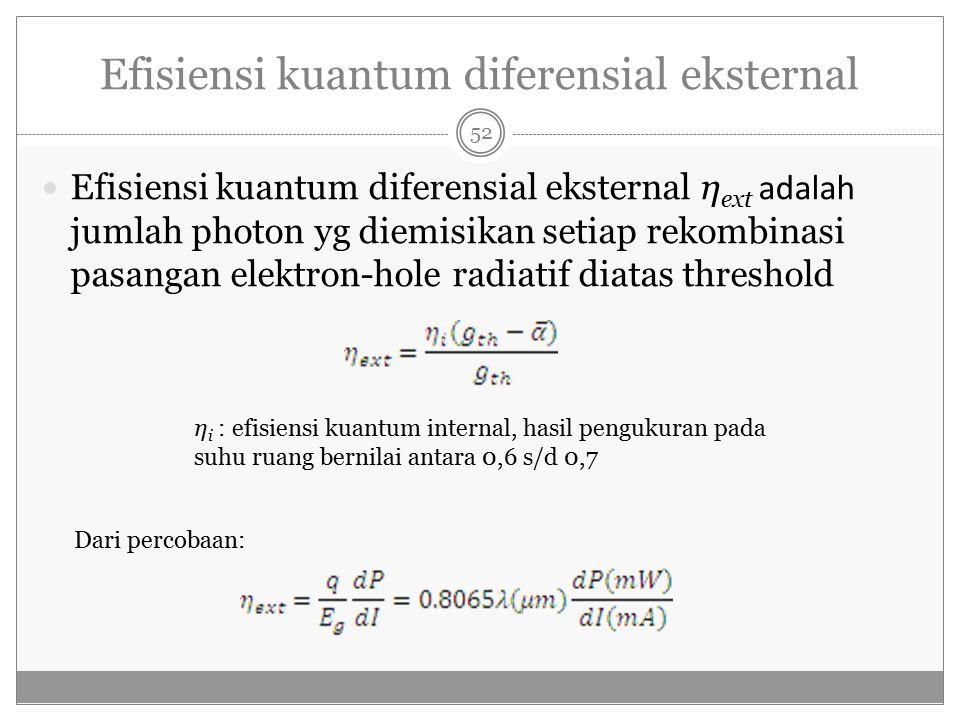 Efisiensi kuantum diferensial eksternal