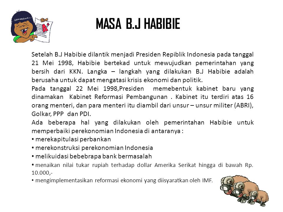 MASA B.J HABIBIE