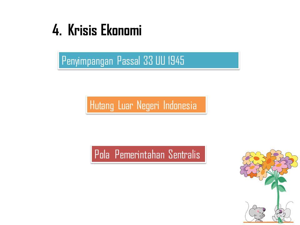 4. Krisis Ekonomi Penyimpangan Passal 33 UU 1945
