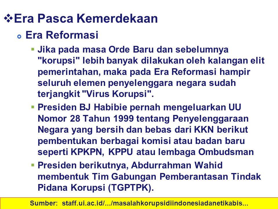 Sejarah Korupsi di Indonesia