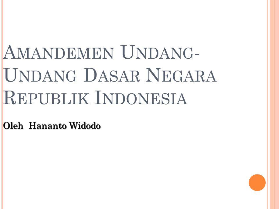 Amandemen Undang-Undang Dasar Negara Republik Indonesia
