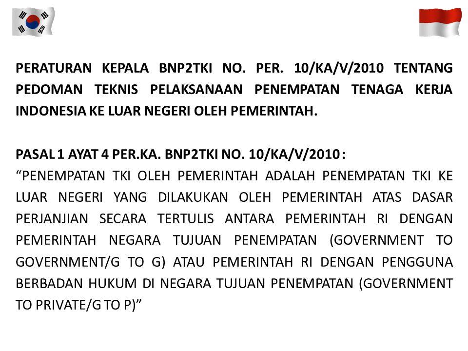 PERATURAN KEPALA BNP2TKI NO. PER