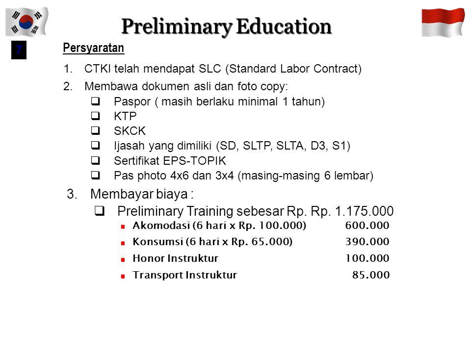 Preliminary Education
