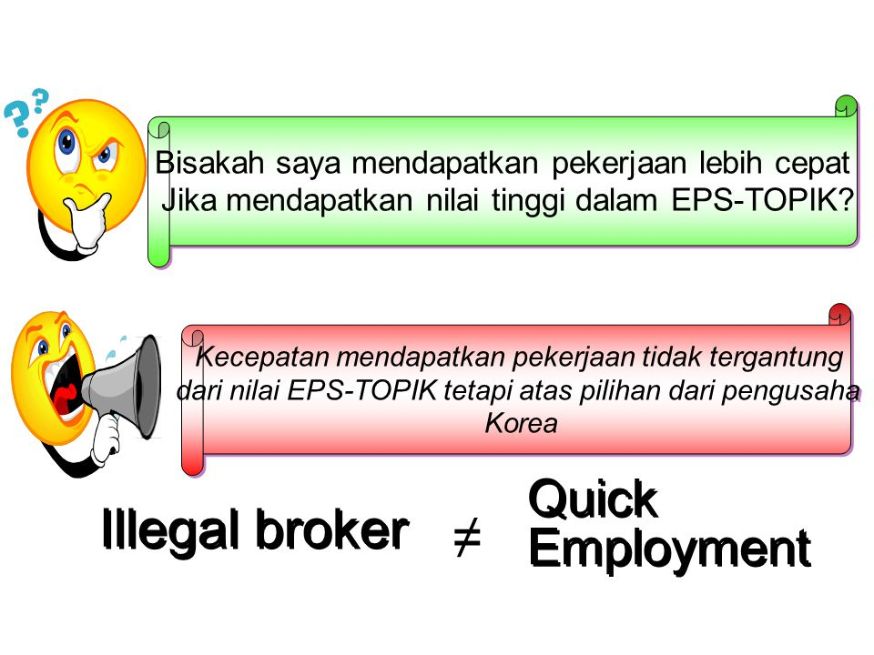 Illegal broker ≠ Quick Employment