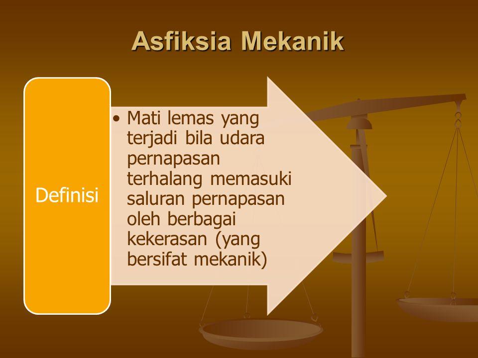 Asfiksia Mekanik Definisi.