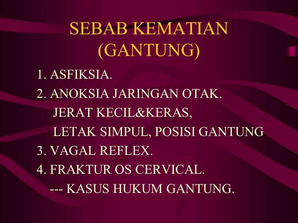 SEBAB KEMATIAN (GANTUNG)
