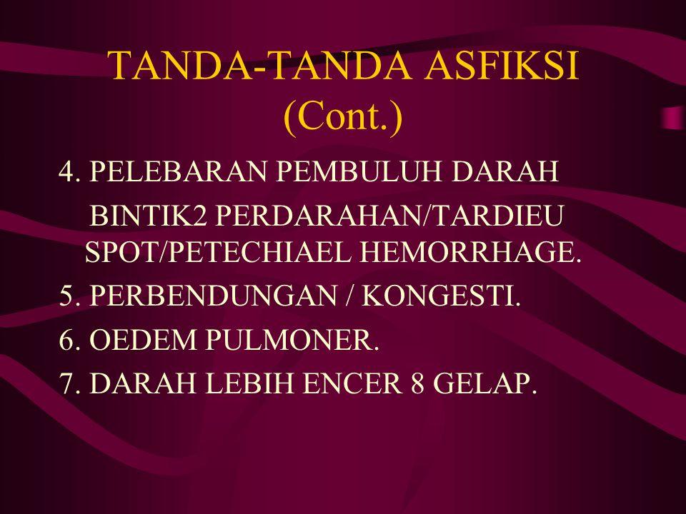 TANDA-TANDA ASFIKSI (Cont.)
