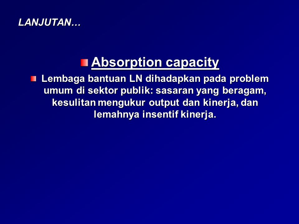 Absorption capacity LANJUTAN…