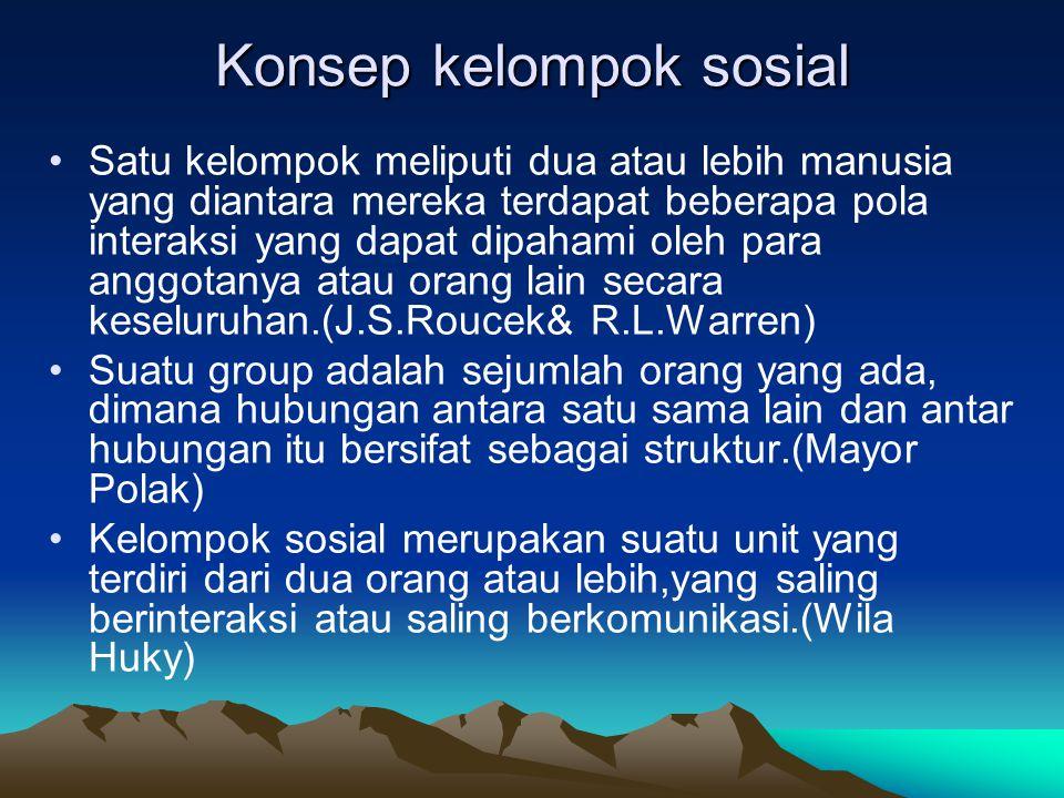 Konsep kelompok sosial