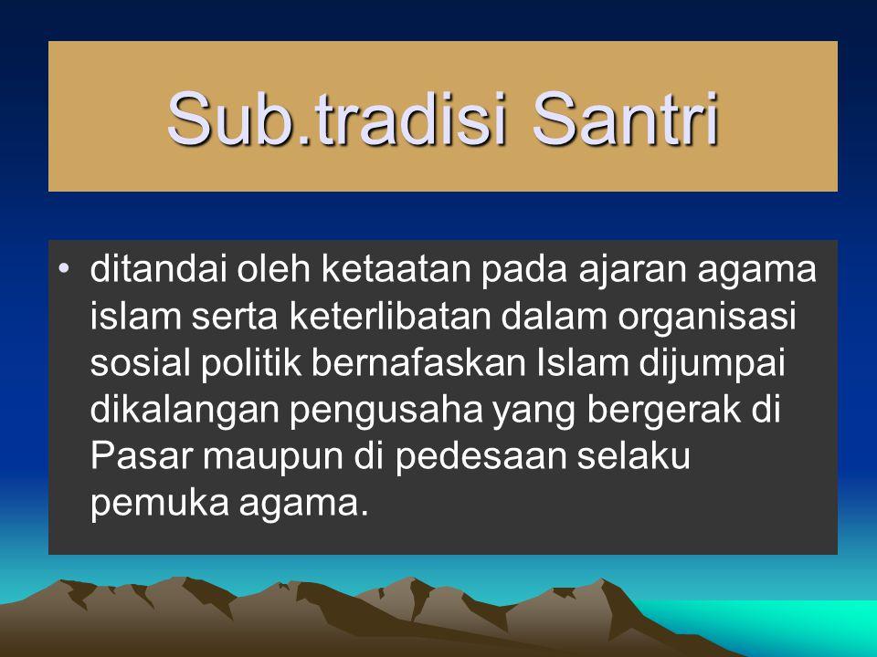 Sub.tradisi Santri