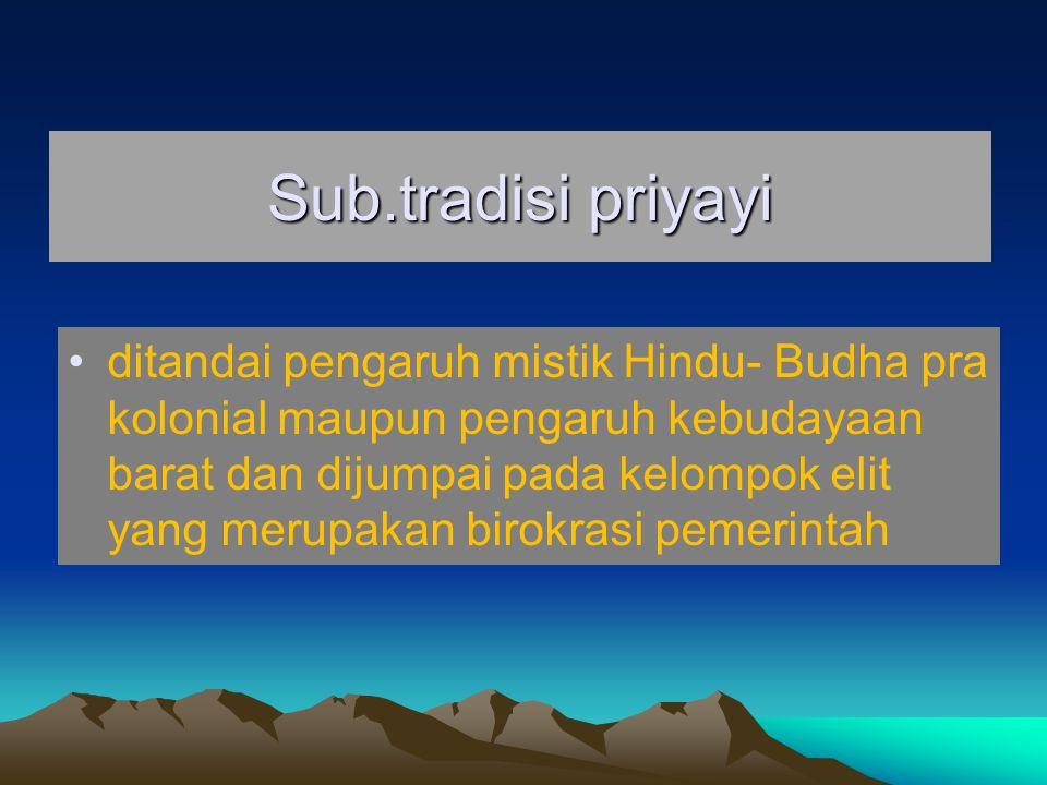 Sub.tradisi priyayi