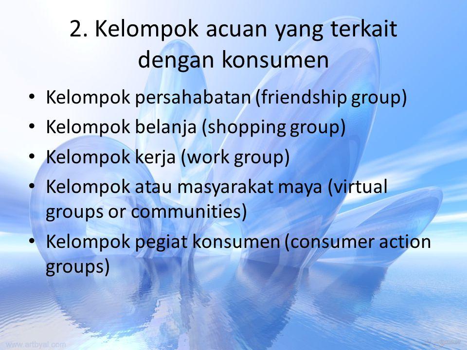 2. Kelompok acuan yang terkait dengan konsumen