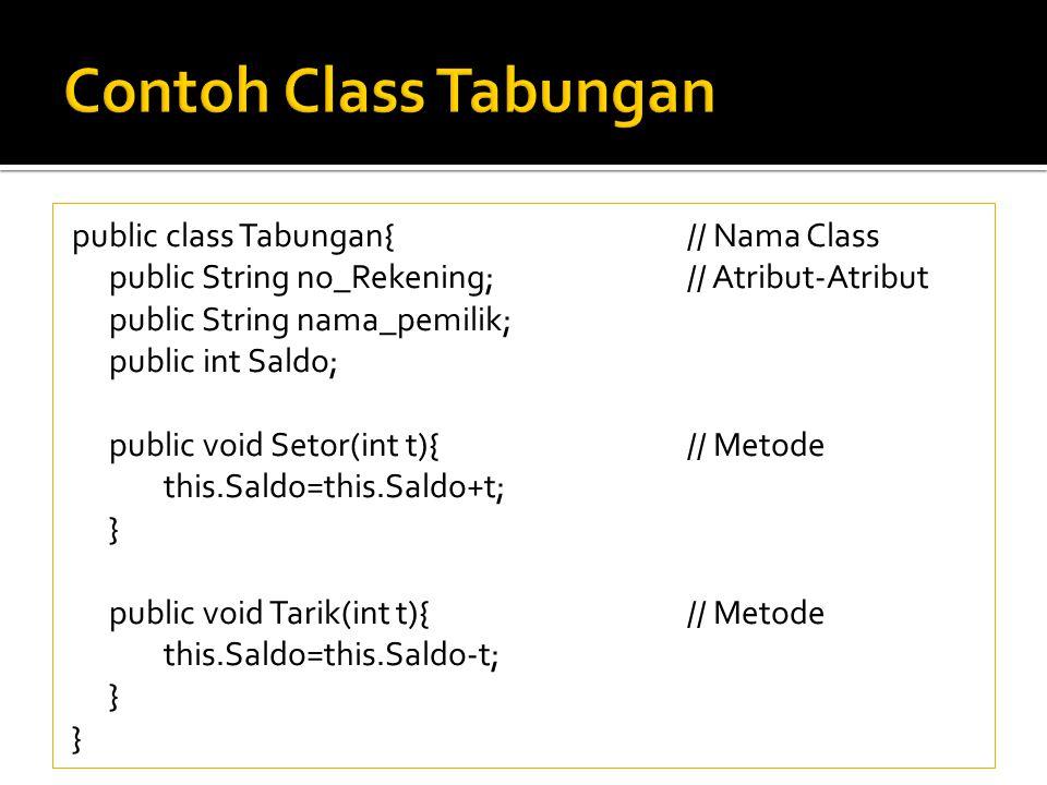Contoh Class Tabungan