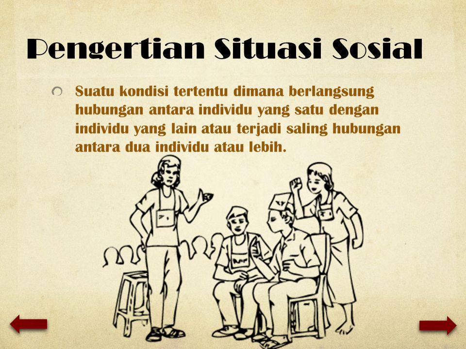 Pengertian Situasi Sosial