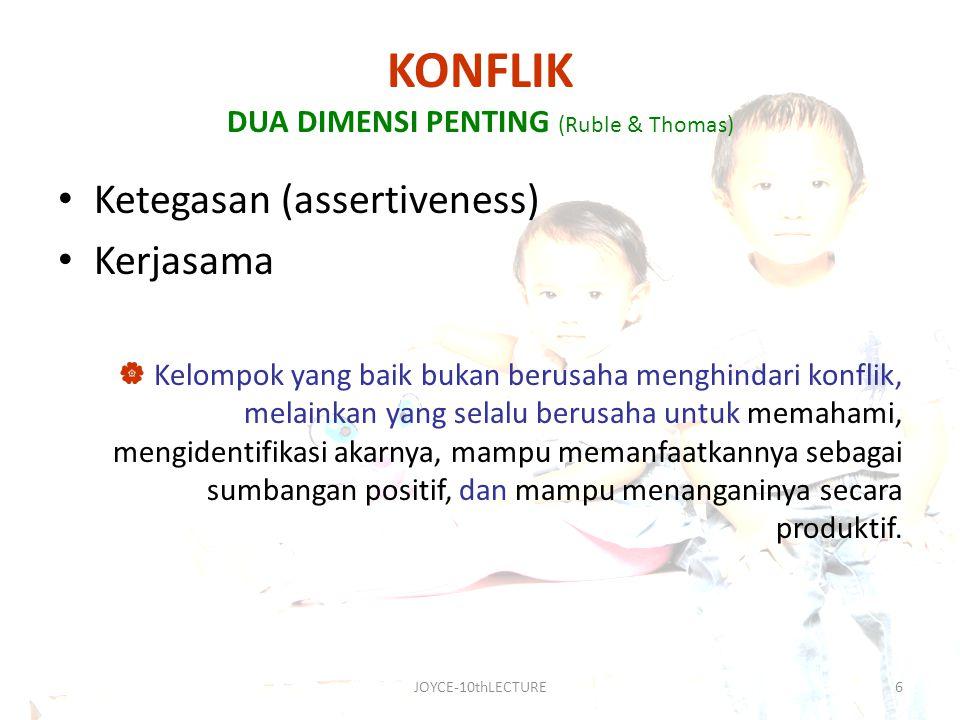 KONFLIK DUA DIMENSI PENTING (Ruble & Thomas)