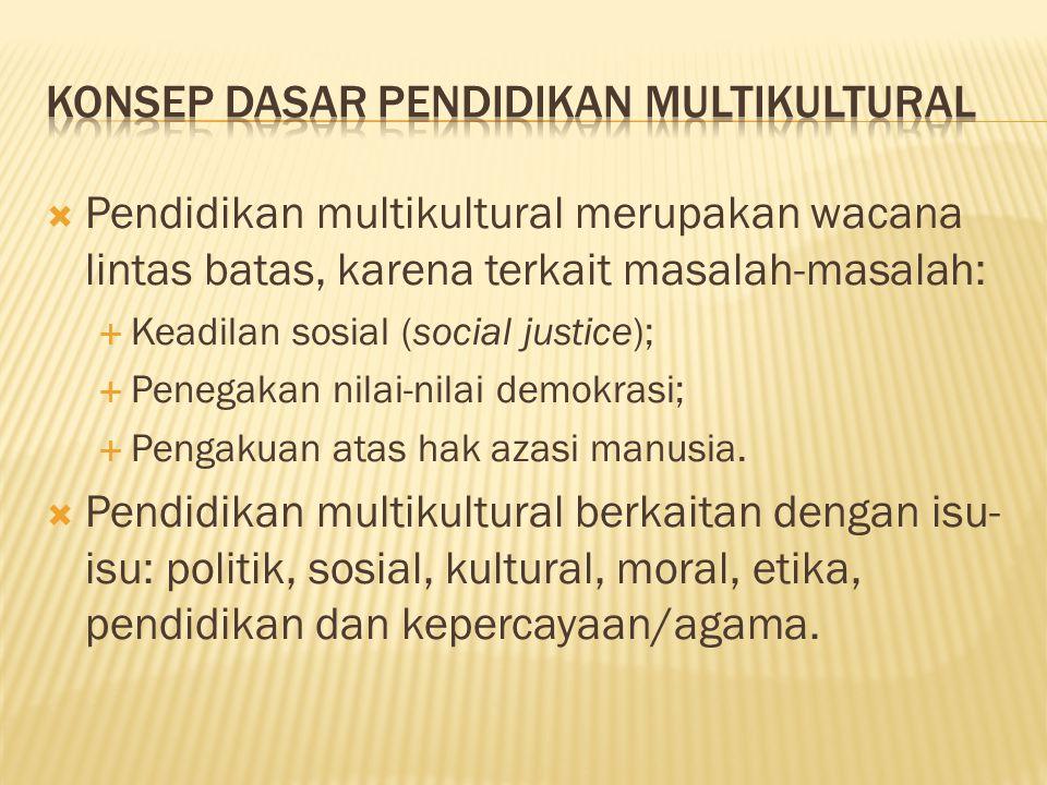 Konsep Dasar Pendidikan Multikultural