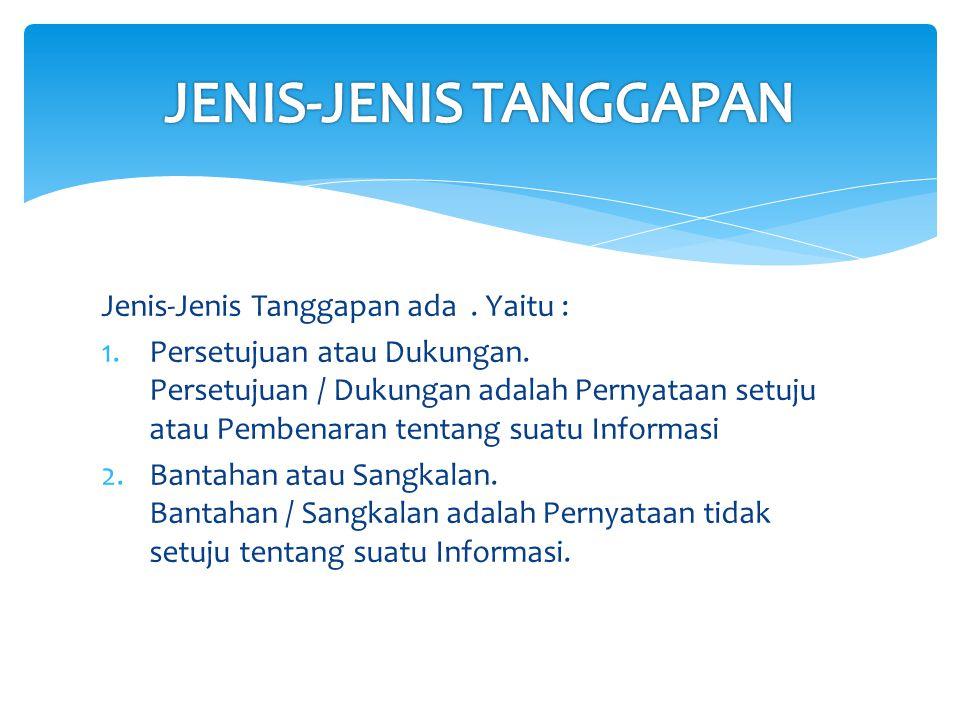 JENIS-JENIS TANGGAPAN