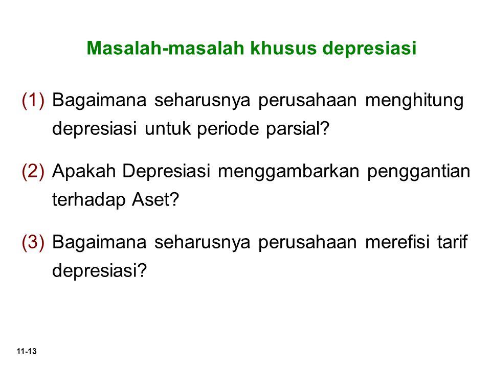 Masalah-masalah khusus depresiasi