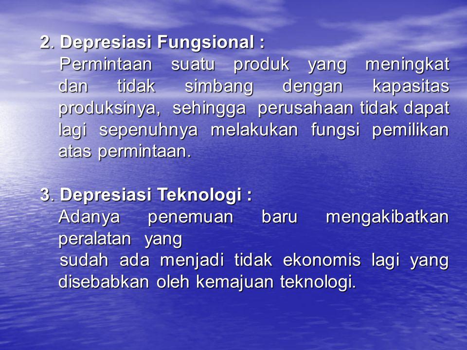 2. Depresiasi Fungsional :