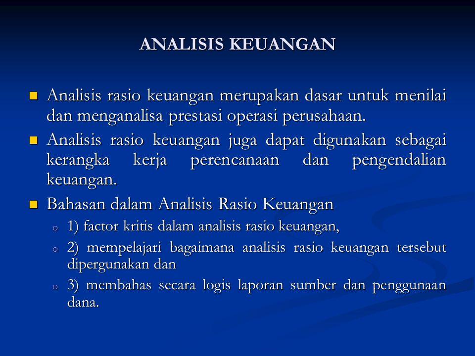 Bahasan dalam Analisis Rasio Keuangan