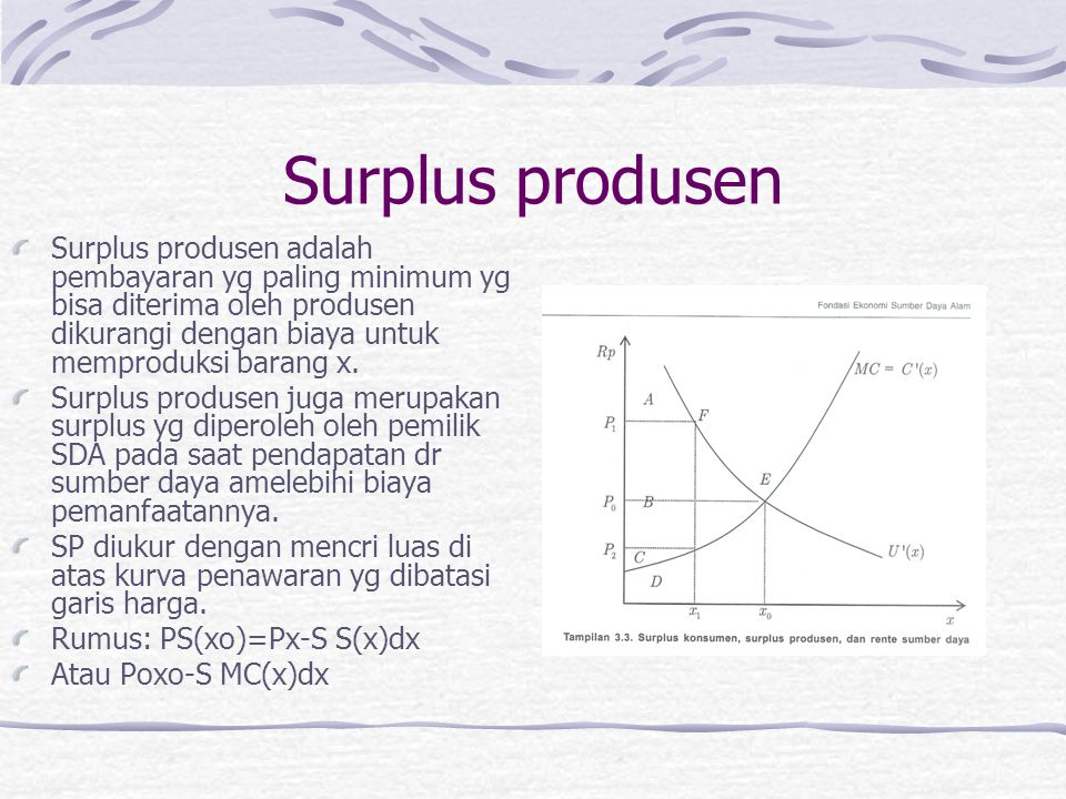 Surplus produsen