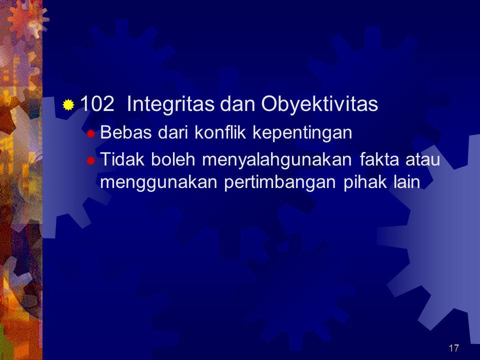 102 Integritas dan Obyektivitas