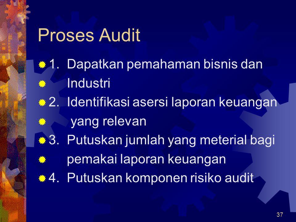 Proses Audit 1. Dapatkan pemahaman bisnis dan Industri