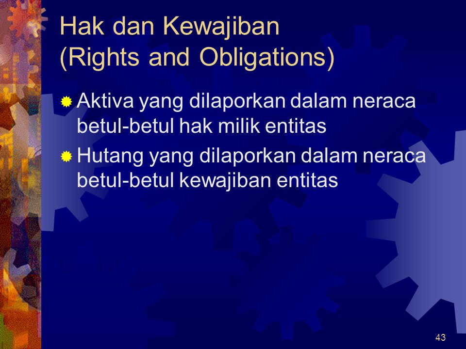 Hak dan Kewajiban (Rights and Obligations)